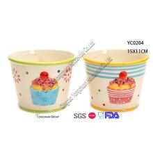 Tazones de cerámica de primavera para la venta al por mayor