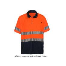 Sicherheits-Reflex-Polo-Shirt mit En ISO