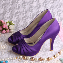 Purple+Wedding+Shoes+for+Bride+High+Heeled