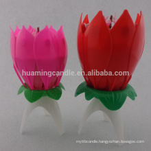 lotus birthday candle with music/ 2014 hot sale