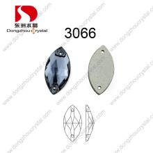 Decorativas Flat Back Fashion Costurar em strass para acessórios de jóias