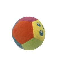 Futebol colorido de pelúcia para bebê