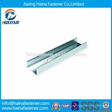 China fornecedor de Alta Resistência Melhor Preço Típico Metal Framing Channel / Steel Guideway