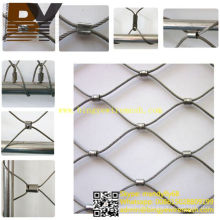 Flexible X-Tend de acero inoxidable Balustrade Cable Net