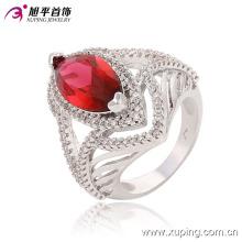 Nouvelle arrivée Elegent en forme de coeur Rhdium CZ bijoux pierres précieuses bague -13650