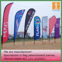 Bandera de playa colorida