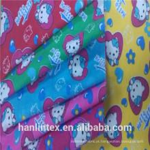 Tecido liso 100% algodão / cvc 120gsm tecido de flanela branca para bebê manta / fralda tailândia