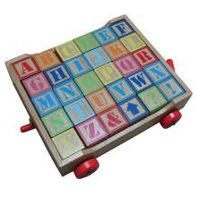 Деревянная алфавит обучающая игрушечная тележка обучающая игрушка
