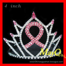 4''H Red Cancer sign pageant crown