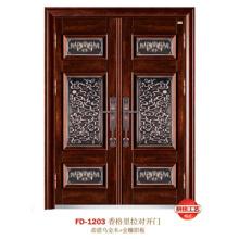China Puerta de entrada del proveedor de puerta de acero Puerta de puerta de metal del hierro (FD-1203)