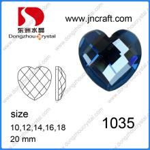 Factory Sale Sapphire Crystal Rhinestone Jewelry Stone in Heart Cut