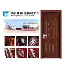 Puerta de acero interior de madera (LTG-112)