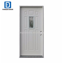 Fangda high quality glass door fitted with metal frame