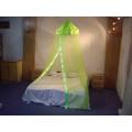 Зеленый бархат с квадратной верхней двуспальной кроватью Canopy