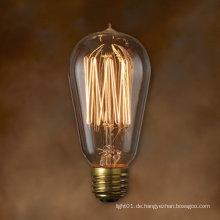 25W / 40W / 60W / 100W St58 Dekoration Edison Glühbirne mit Tip Top