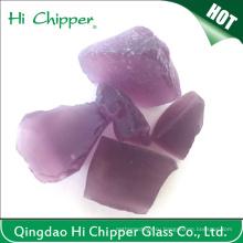 Фиолетовый цветной камин Декоративные стеклянные скалы