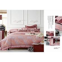 Juego de sábanas de bordado Juego de sábanas de lujo Jacquard