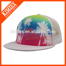 2016 Custom Flat Sublimation Trucker Cap