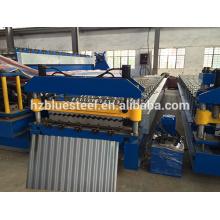 Gute Qualität Galvanisierte Stahl gewellte Blech Rollenformmaschine, Wellung Wave Panel Making Machine