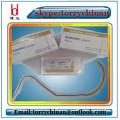 Catgut chromic absorbible, paquete estéril de la sutura, material médico de la adhesión y de la sutura Propiedades USP1 # long75cm