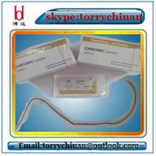 Абсорбируемый хромовый кетгут, стерильный пакет швов, медицинский клей и свойства шовного материала