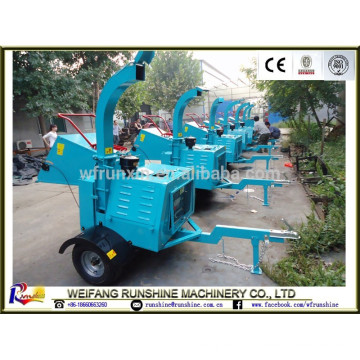 CE certificate DWC-22 diesel powered wood chipping machine