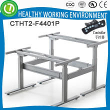 Office desk height adjustable & folding table legs for 2 people