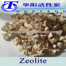 Mineral de zeolita natural de 1-2 mm para suavizar el agua de la caldera