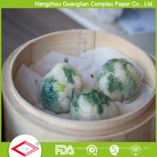 Papel vaporizador antiadherente siliconado siliconado para albóndigas chinas