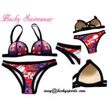 Swimwear da senhora Swimsuit de duas peças Beachwear com molde Cup