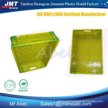 customized plastic injection fruit crate mould