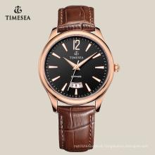 Relógio impermeável do bracelete do relógio popular de Quarz dos homens com a janela grande 72131 da data