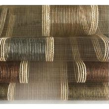 China Manufacturer Chenille Striped with Sheer Voile Organza Curtain Fabrics for Upholstery