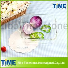 Plaque à pâtisserie en verre à base de borosilicate (DPP-107)