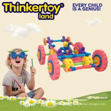 Brinquedos coloridos frescos da instrução do bloco de edifício do modelo do carro de competência