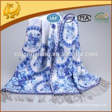 Digitale Malerei Doppelseitige Frauen 100% Seide Pashmina Wrap Rose Bedruckte Schal