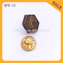 MPB15 Pin rosado de la pajarita de la divisa del perno del lazo de la solapa del lazo de la solapa del sombrero de la cinta