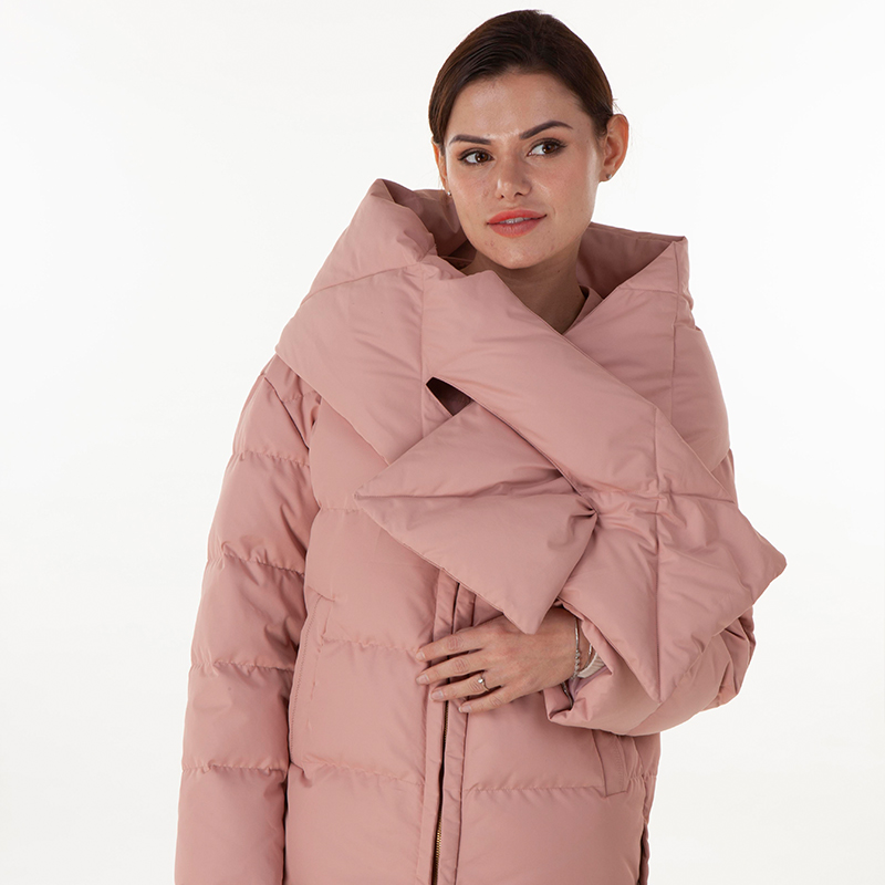 New pink down jacket