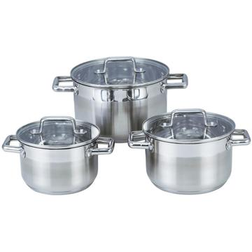 Stainless Steel Double Handles Soup Pot Kitchenware