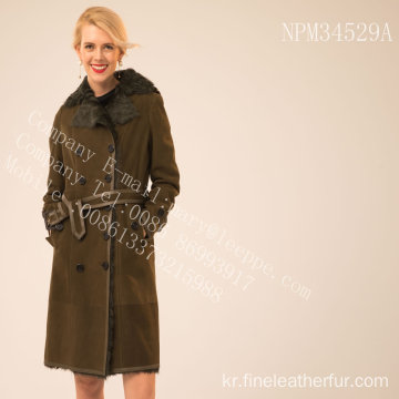 가역 호주 Merino Shearling Coat For Lady