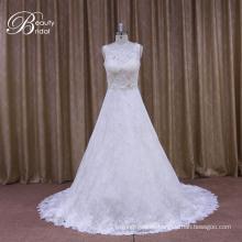Vestido de novia más elegante de satén inferior de Alibaba