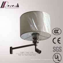 Lampe de chevet en laiton brossé décorative de l'hôtel européen