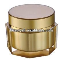 Octagon Vaciar el frasco de acrílico cosmético