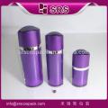 SRS alibaba China empty luxury cosmetic bottle packaging, 30ml 60ml 120ml plastic eye shape black acrylic lotion bottle with lid
