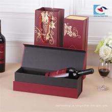 Venda quente personalizado de Luxo cartão caixa de vinho tinto clássico Chinês
