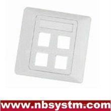 4 Port Face Plate, Größe: 86x86mm