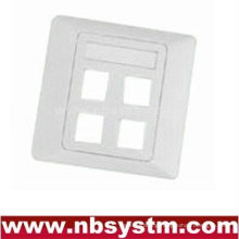 4 port Face Plate , size:86x86mm