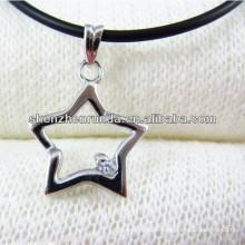 316L de aço inoxidável de cinco pontas estrela pingente de jóias de moda para a menina