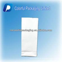 Venda quente / 250-500g Limpar & Branco Impressão / Folha De Alumínio / Side-gusset / Embalagem Saco Para Chá & Café & Grão De Café Com Rasgo Notch