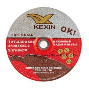 """Centro de depresión flexible de 9 """"y rueda de amolar para metal"""